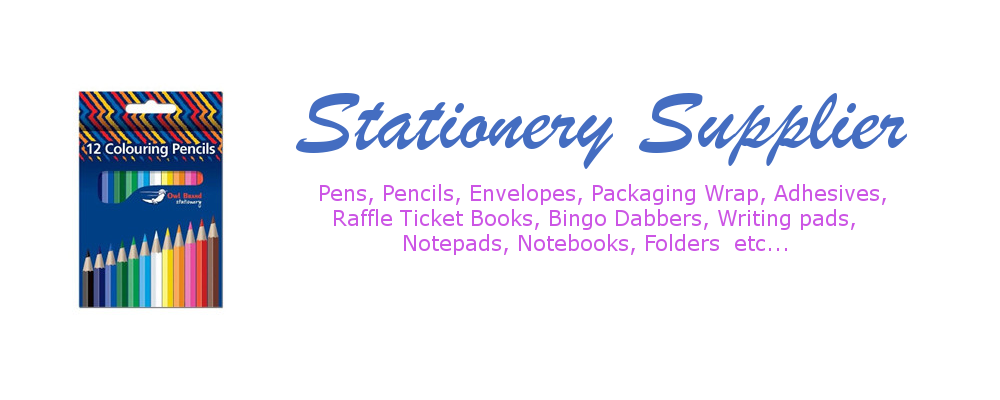 A selection of stationery items